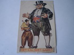 War // Guerre // Caricature - Patriotic // NL /Th. Molkenboer Illustrator / Het Zal Niet 19?? Punaissegaatjes - Pinholes - Oorlog 1939-45