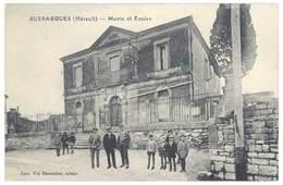 Cpa Sussargues - Mairie Et Ecoles - France