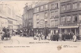 08 / SEDAN / LA PLACE DE LA HALLE /CAFE CORDIER / A LA FILEUSE / - Sedan