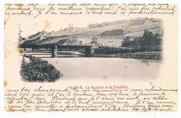CPA Dos Non Divisé : NAMUR La Sambre Et La Citadelle Vues +/- Du Bld Orban - Namur