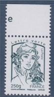 = Marianne Et La Jeunesse Gommé Lettre Verte -250g France N°4777 Vert-noir Neuf Avec Haut De Feuille Ciappa Et Kawena - 2013-... Marianne De Ciappa-Kawena