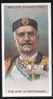 Vieux Papiers > Chromos & Images > Non Classés Wills S Cigarettes KING OF MONTENEGRO N°34 - Vecchi Documenti