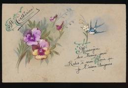CELLULOID - HAND GESCHILDERD  VIOLET - Flowers