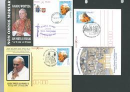 2005. SIX  POSTCARDS  IN  MEMORIAL  TO  POPE  JOHN  PAUL II. - Poland