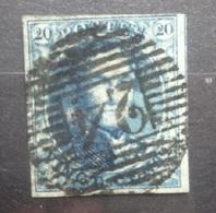BELGIE  1849   Nr. 4   P 24   Centraal / Gerand / Gebuur     CW  70,00 - 1849-1850 Medaillen (3/5)