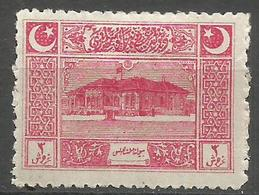 Turkey - 1922  Parliament House 3k (thick Paper) MH *     Mi 792p  Sc AS103p - Unused Stamps