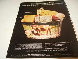 ANCIENNE AFFICHE  PUBLICITE VOICI LES FROMAGES D ALLEMAGNE 1976 - Affiches