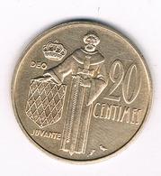 20 CENTIMES 1962 MONACO /4940G/ - Monaco
