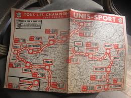 REVUE BUT CLUB LE MIROIR DES SPORTS CARTE DU TOUR DE FRANCE 1954 PUBLICITE VESPA - Sport