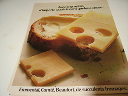 ANCIENNE AFFICHE  PUBLICITE FROMAGE GRUYERE EMMENTAL COMTE BEAUFORT 1979 - Posters