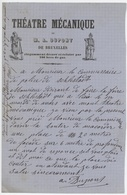 Théâtre Mécanique De M.A. Dupont De BRUXELLES élégamment Décoré Et éclairé Par 100 Becs De Gaz Document Illustré - Electricity & Gas