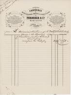 C.de Quincaillerie ,Cristaux & Porcelaines De Furderer & Cie Sélestat 1879 Facture Illustrée - Francia