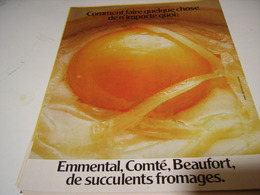 ANCIENNE AFFICHE  PUBLICITE FROMAGE EMMENTAL COMTE BEAUFORT 1979 - Posters