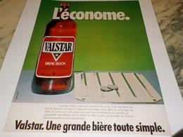 ANCIENNE AFFICHE PUBLICITE  BIERE VALSTAR L ECONOME 1979 - Alcools