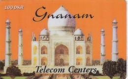 Denmark, GNA-DM-09, Taj Mahal - Gnanam - 100 DKK, 2 Scans.   Exp : 25/15/2000 - Denmark