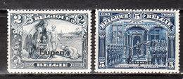 OC98/99*  Timbres De 1915 Surchargé EUPEN - 2 Bonnes Valeurs - MH* - LOOK!!!! - WW I