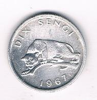 DIX SENGI 1967/ CONGO /4949G/ - Congo (Republic 1960)