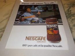 ANCIENNE PUBLICITE PAUSE CAFE PAUSE   NESCAFE 1979 - Posters
