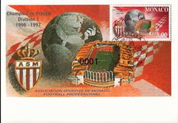 N° 2126 AS Monaco Champion De France 08/08/1997 - Cartes-Maximum (CM)