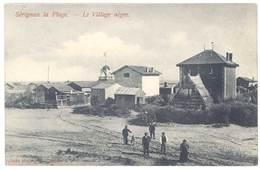 Cpa Sérignan La Plage - Le Village Nègre - France