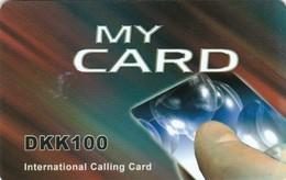 Denmark, DEN-PRE-LYC-?, DKK100, Touch Tone Phone - MY CARD, 2 Scans.   Exp : 25/12/2012 - Denmark