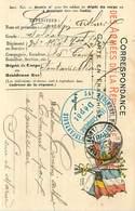 D-18-1389 : CARTE FRANCHISE MILITAIRE  CARTE DRAPEAU. CACHET 34° REGIMENT TERRITORIAL INFANTERIE 15° COMPAGNIE  DEPOT - Storia Postale