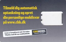 Denmark, GSM Frame Without Chip, CBB Mobil, 2 Scans - Denmark