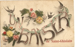 CPA Belgique 1909 - Un Baiser De Saint-Ghislain - Alouettes - Saint-Ghislain