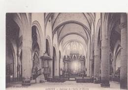 CPA - LIMOUX Intérieur De L'église St Martin - Limoux