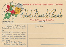 PORTUGAL - VALE DO VOUGA - ARRIFANA   - ADVERTISING - ABSORBENT PAPER - MATA BORRÃO - BLOTTER - BLOTTING PAPER - Textile & Clothing