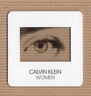 CC Carte Parfumée 'CALVIN KLEIN' 'WOMEN' Perfume Card BLOTTER - Modern (from 1961)