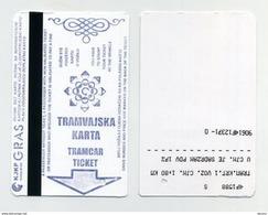 Ticket De Tramway - Sarajevo, Bosnie Herzégovine - Europe