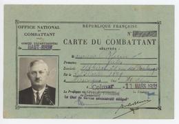 Carte Du Combattant Judaïca Généalogie Blum Altkirch Hirsingue 1931 - Documents Historiques