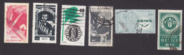 Mexico, Scott #968-973, Used, Ag Reform Law, Postal Service, Las Casas, Mechanical Engineering, FAO, Issued 1966 - Mexico