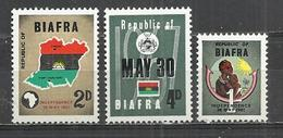 BIAFRA 1968 - DECLARATION OF INDEPENDENCE ON MAY, 30, 1967 - CPL. SET - MNH MINT NEUF NUEVO - RARE - Stamps