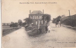 CONTY        BOUT DE LA RUE VERTE. ROUTE DE BRETEUIL ET GRANVILLERS - Conty