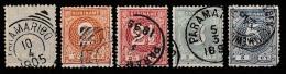Suriname 1890-1893 Cijfers. NVPH 16-20 Gestempeld. See Description. - Suriname ... - 1975