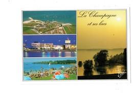 Cpm - La Champagne Et Ses Lacs - Plage Parasol COCA-COLA - - Champagne - Ardenne