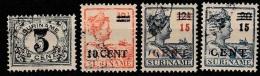 Suriname 1925 Hulpuitgifte. NVPH 111-114 Gestempeld/used - Suriname ... - 1975