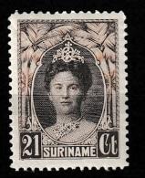 Suriname 1927-1930 Wilhelmina 21 Ct. NVPH 122 MH/*/ongestempeld - Surinam ... - 1975