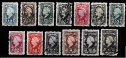 Suriname 1945 Wilhelmina.  NVPH 229-241 Gestempeld. - Suriname ... - 1975