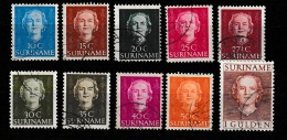 Suriname 1951 Koningin Juliana.  NVPH 285-294 Gestempeld - Suriname ... - 1975