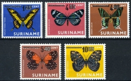 Suriname 1977 Vlinders, Butterflies, Mariposa, Schmetterlinge MNH/**/postfrisch - Suriname