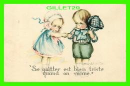 """ENFANTS, CARTES HUMORISTIQUES DE"""" RUTH WELCH SURR """" - SE QUITTER EST BIEN TRISTE QUAND ON S'AIME - - Cartes Humoristiques"""