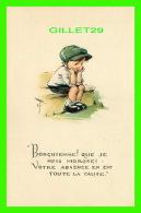 """ENFANTS, CARTES HUMORISTIQUES DE"""" RUTH WELCH SURR """" -  BONQUIENNE ! QUE JE SUIS MOROSE ! - Cartes Humoristiques"""
