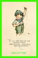 """ENFANTS, CARTES HUMORISTIQUES DE"""" RUTH WELCH SURR """" - IL Y A DES FOIS OU UNE FEMME PEUT RÉELLEMENT SERVIR À QUELQUECHOSE - Cartes Humoristiques"""