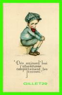 """ENFANTS, CARTES HUMORISTIQUES DE"""" RUTH WELCH SURR """" - DÈS  AUJOURD'HUI J'ABANDONNE COMPLÈTEMENT LES FEMMES - - Cartes Humoristiques"""