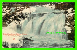 SHAWINIGAN, QUÉBEC - LITTLE SHAWINIGAN FALLS IN WINTER - ST MAURICE - WRITTEN IN 1909 - E. P. CHARLTON & CO LTD - - Trois-Rivières