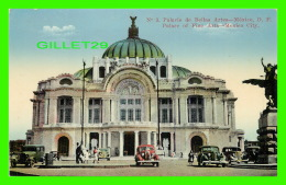 MEXICO - PALACIO DE BELLAS ARTES - ANIMATED WITH OLD CARS  -  EDITOR E. MARTIN - - Mexico