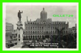 HAVANA, CUBA - VIEW OF THE PRESIDENT PALACE AND ZAYAS PARK - - Cuba
